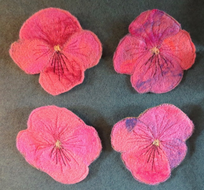 Pansy Brooches
