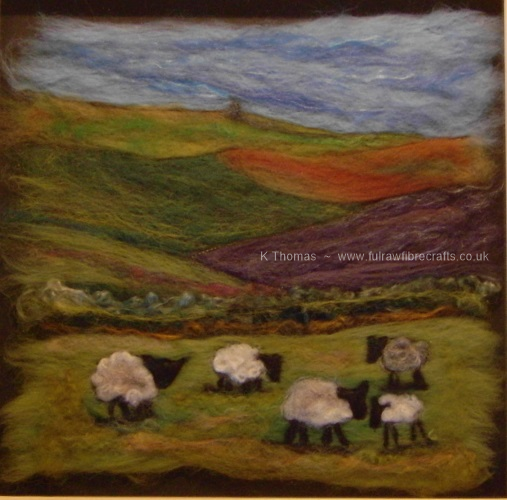 Five Sheep by Cairn Hill
